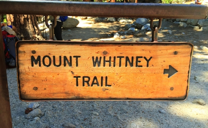 Whitney Trail Sign Small
