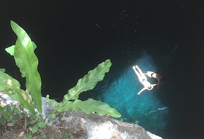 Floating cenote