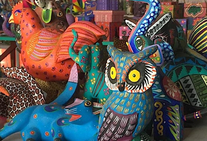 Alebrijes Owl coloseup