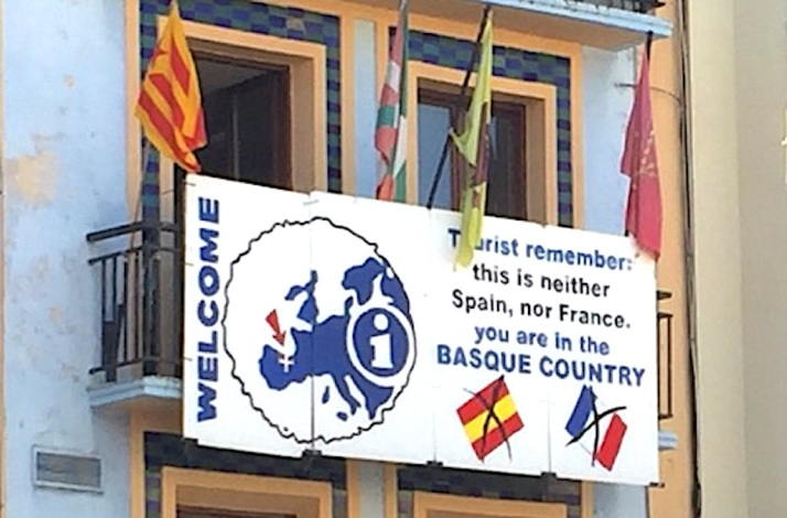 Basque Country sign