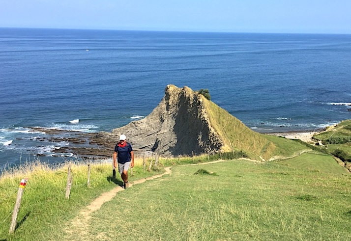 Joe hiking Flysch Trail