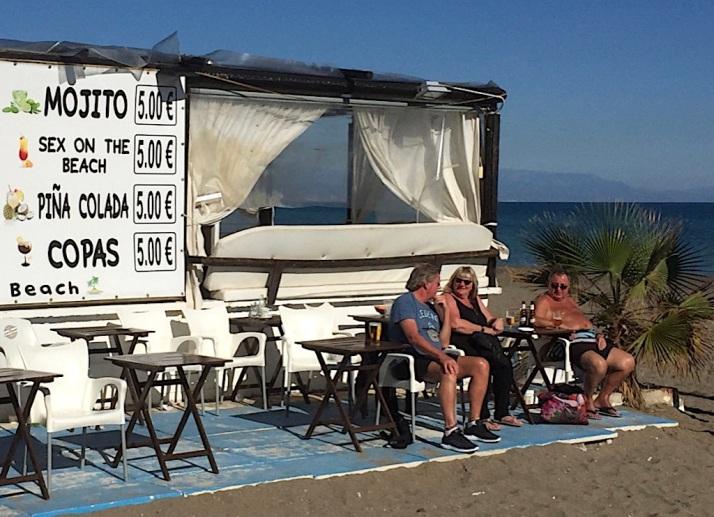 Costa sunbathers