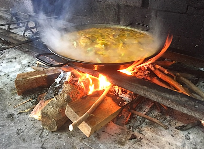 Paella on Fire